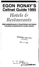 Egon Ronay s Cellnet Guide  Hotels   Restaurants