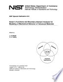 Green's Functions and Boundary Element Analysis for Modeling of Mechanical Behavior of Advanced Materials