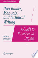 User Guides  Manuals  and Technical Writing