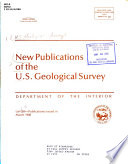 New Publications of the U.S. Geological Survey