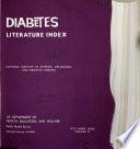 Diabetes Literature Index Book