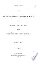 Report of the Board of Trustees of Public Schools of the City of Washington Book