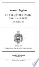 Annual Register of the U S  Naval Academy