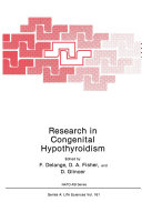 Research in Congenital Hypothyroidism