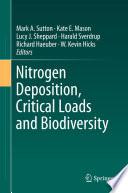 Nitrogen Deposition  Critical Loads and Biodiversity Book