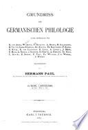 Grundriss der germanischen philologie