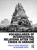 Pdf Vocabularies of International Relations after the Crisis in Ukraine Telecharger