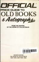 The Official Price Guide To Old Books And Autographs