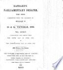The Parliamentary Debates (Authorized Edition)