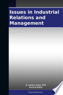 Issues In Industrial Relations And Management 2011 Edition Book PDF