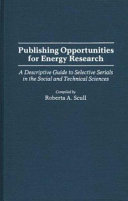 Publishing Opportunities For Energy Research