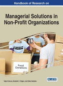Handbook of Research on Managerial Solutions in Non-Profit Organizations