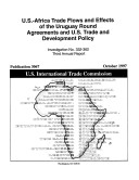 U.S.-Africa Trade Flows and Effects of the Uruguay Round Agreements and U.S. Trade and Development Policy , Inv. 332-362 Pdf/ePub eBook