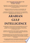 Arabian Gulf Intelligence: Selections from the Records of the Bombay Government, New Series, No.XXIV, 1856, Concerning Arabia, Bahrain, Kuwait, M