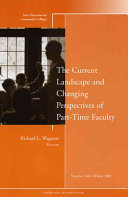 The Current Landscape and Changing Perspectives of Part Time Faculty