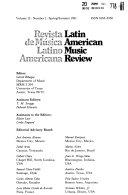 Latin American Music Review