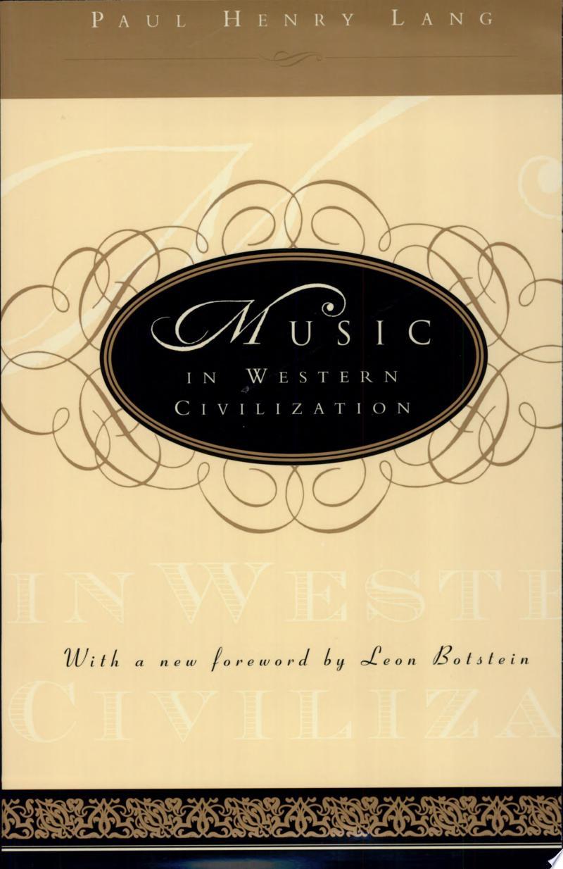 Music in Western Civilization banner backdrop