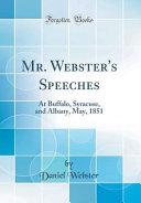 Mr  Webster s Speeches