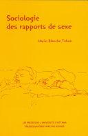 Sociologie des rapports de sexe [Pdf/ePub] eBook