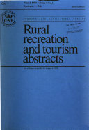 Rural Recreation and Tourism Abstracts