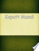 Kaputt Mundi  : Kriminalroman