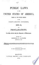 Public Laws of the United States of America  Passed at the Second Session of the Forty second Congress  1871 2