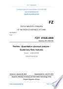 FZ T 01026 2009  Translated English of Chinese Standard   FZT 01026 2009  FZ T01026 2009  FZT01026 2009