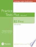 Cambridge English Qualifications: B2 First Volume 1 Practice Tests Plus (no Key)