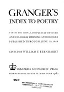 Granger s Index to Poetry