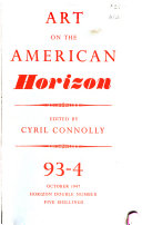 Art on the American Horizon Book