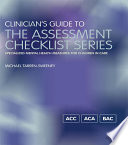 Clinician S Guide To The Assessment Checklist Series Book PDF