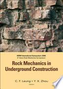 Rock Mechanics in Underground Construction