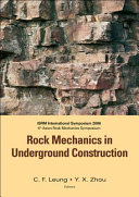 Rock Mechanics in Underground Construction