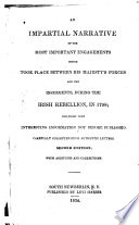 An Impartial Narrative of the Most Important Engagements which Took Place Between His Majesty's Forces and the Insurgents, During the Irish Rebellion, 1798 Pdf/ePub eBook
