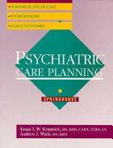 Psychiatric Care Planning Book