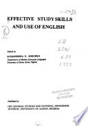 Effective Study Skills and Use of English