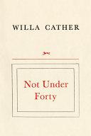 Not Under Forty Pdf/ePub eBook