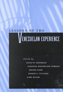 Lessons of the Venezuelan Experience Book