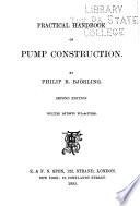 Practical Handbook on Pump Construction Book