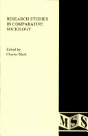 Research Studies in Comparative Sociology