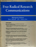 Free Radical Research Communications Book