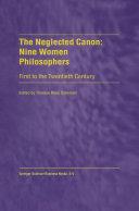 The Neglected Canon  Nine Women Philosophers