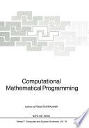 Computational Mathematical Programming