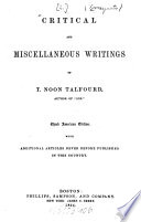 Essays  Critical and Miscellaneous