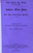 Lydgate s Minor Poems