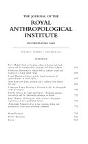 The Journal of the Royal Anthropological Institute