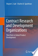 Contract Research and Development Organizations Book