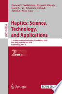 Haptics  Science  Technology  and Applications