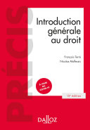 Pdf Introduction générale au droit - 12e ed. Telecharger