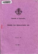 Trades Tax Regulations